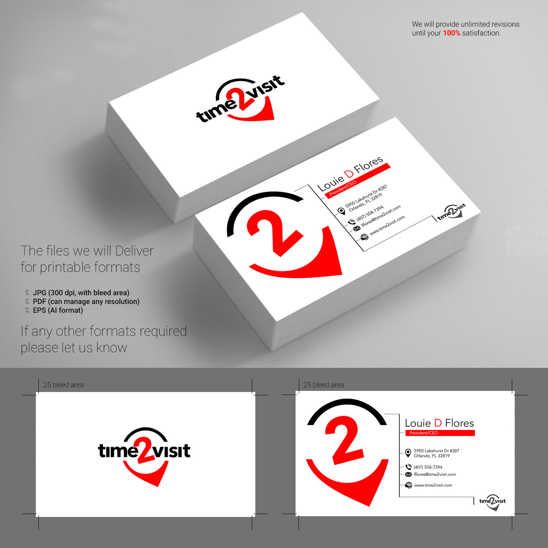 Bold, Modern Business Card Design for Time 2 Visit by rajuatu ...