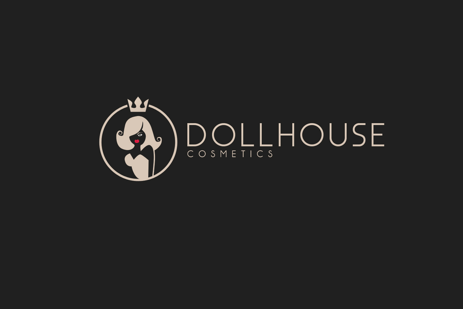 Modern Upmarket Makeup Logo Design For Dollhouse Cosmetics By