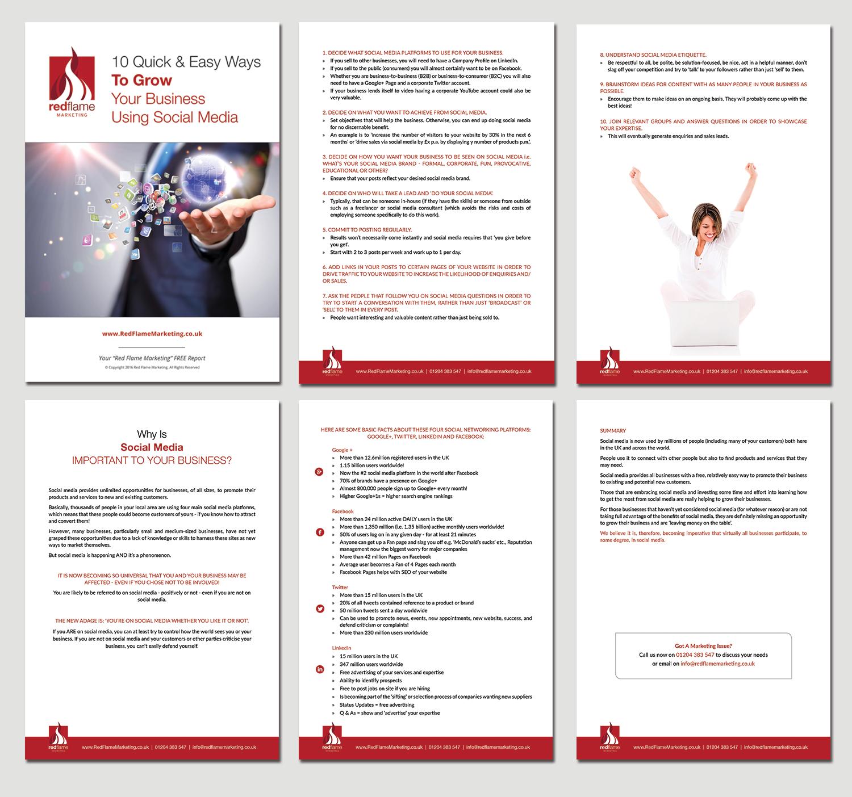 Fett , Ernst, Marketing Broschüren-Design for Red Flame Marketing by ...