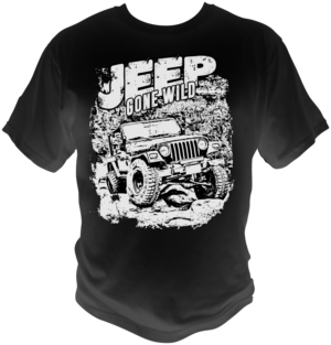 Modern Bold Tshirt Design For Jeep Gone Wild By Petowesd - Jeep t shirt design
