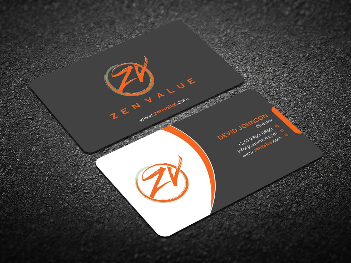 Upmarket bold management consulting business card design for zen business card design by design xeneration for zen value design 12588937 colourmoves