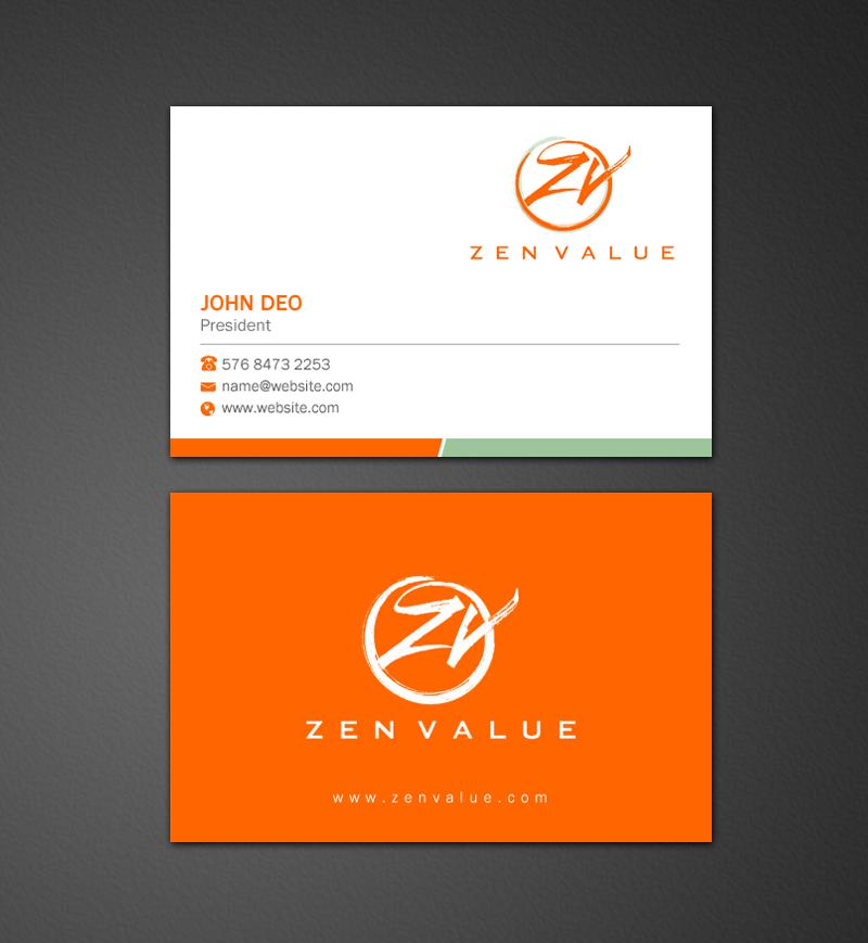 Design De Carte Visite Par Brand Aid Pour ZEN VALUE