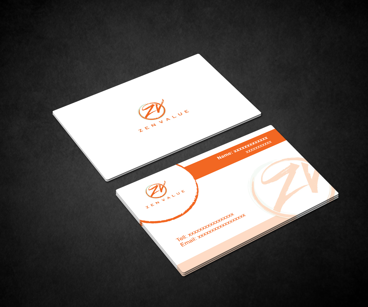 Upmarket bold management consulting business card design for zen business card design by fourtunedesign for zen value design 12651272 colourmoves