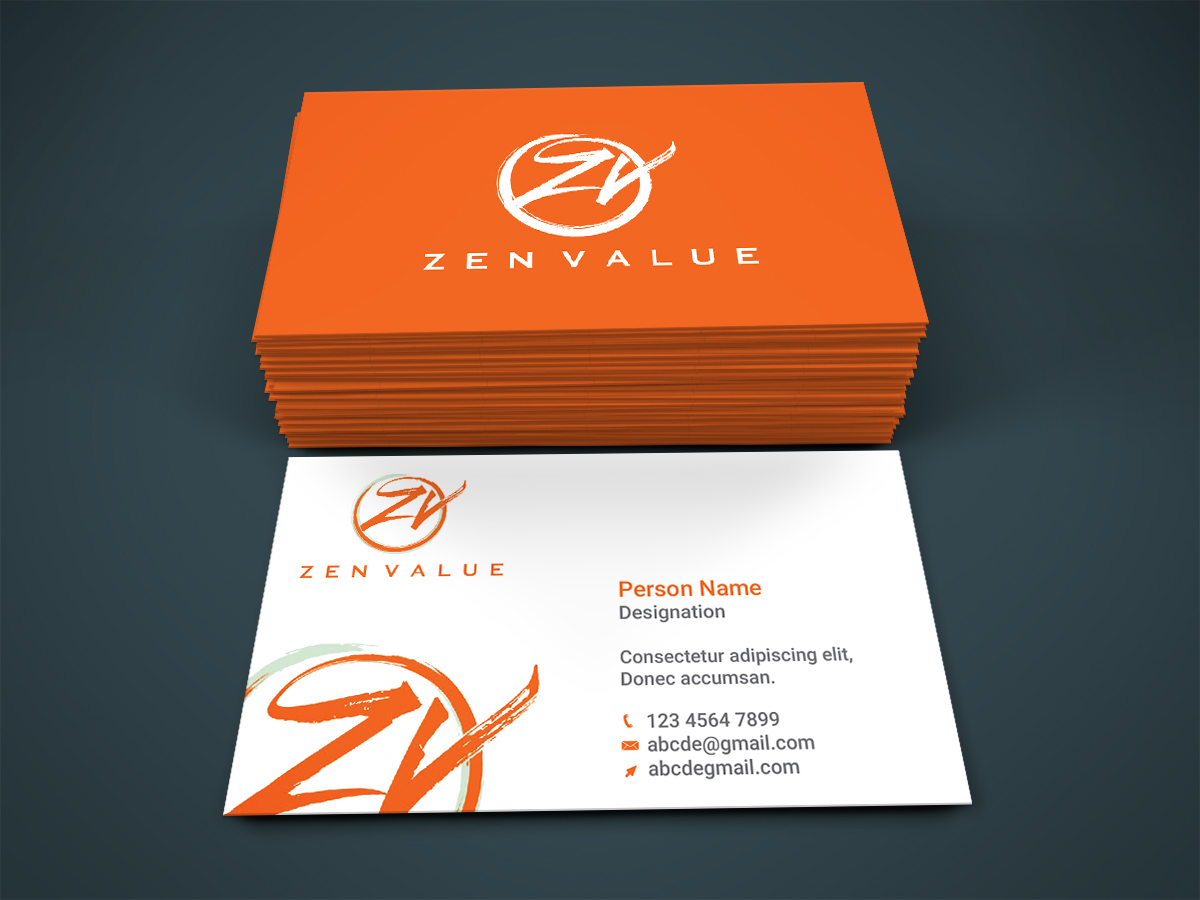 Upmarket, Bold, Management Consulting Business Card Design for ZEN ...