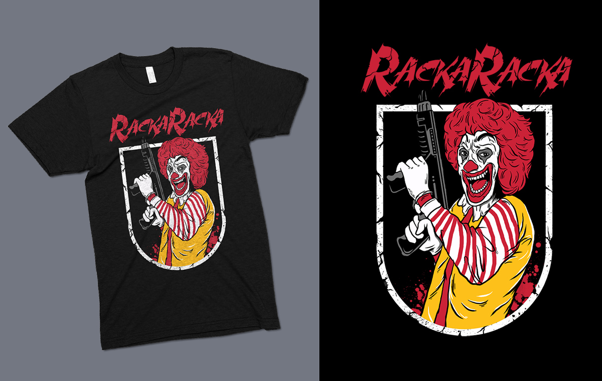 Design t shirt youtube - T Shirt Design By Rockalight For Rackaracka Large Youtube Channel Needs T Shirt