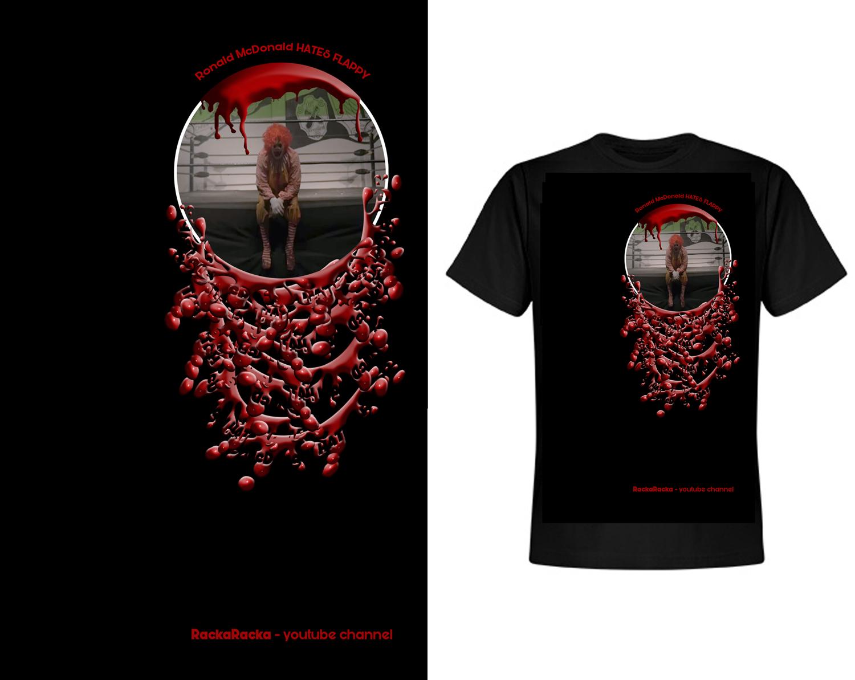 Design t shirt youtube - T Shirt Design By Maldonadoyusnan For Rackaracka Large Youtube Channel Needs T Shirt