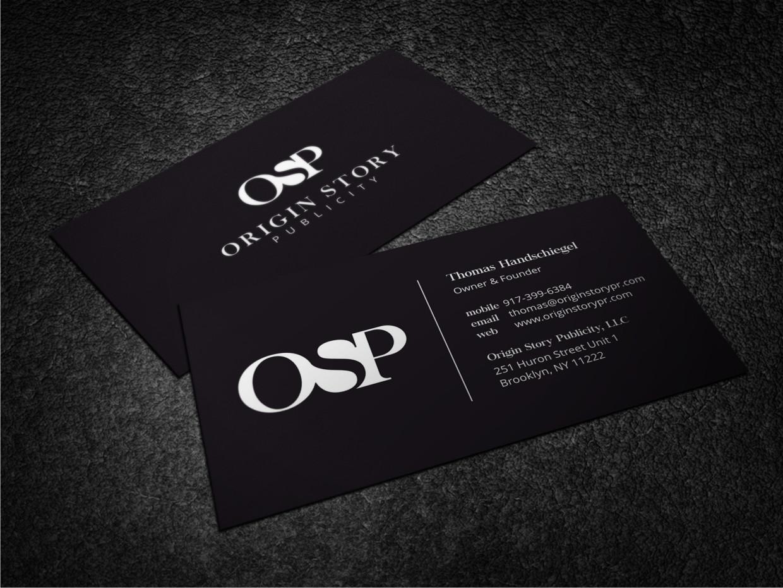 Elegant, Playful Business Card Design for Origin Story Publicity ...