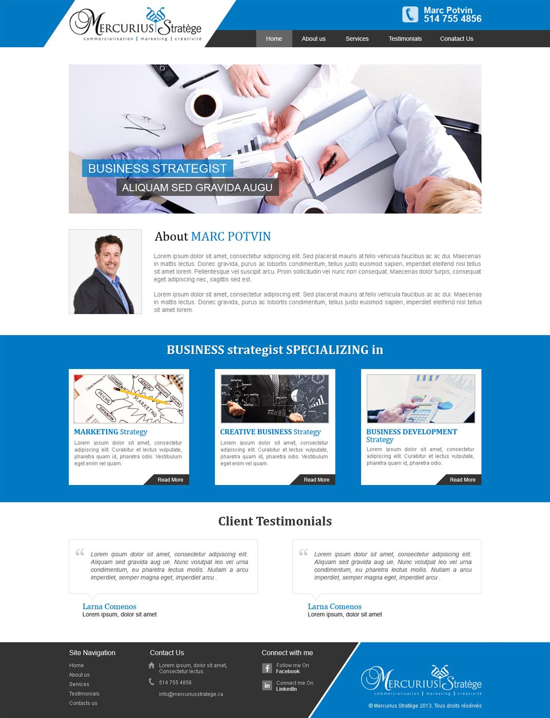 68 elegant web designs business web design project for agenceweb design by mind capture studio for agence numérique hoffman design 2432039