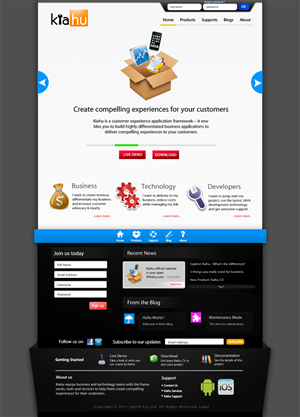 Web Design by iGoDzp - Kiahu - Customer Experience Software Company We...