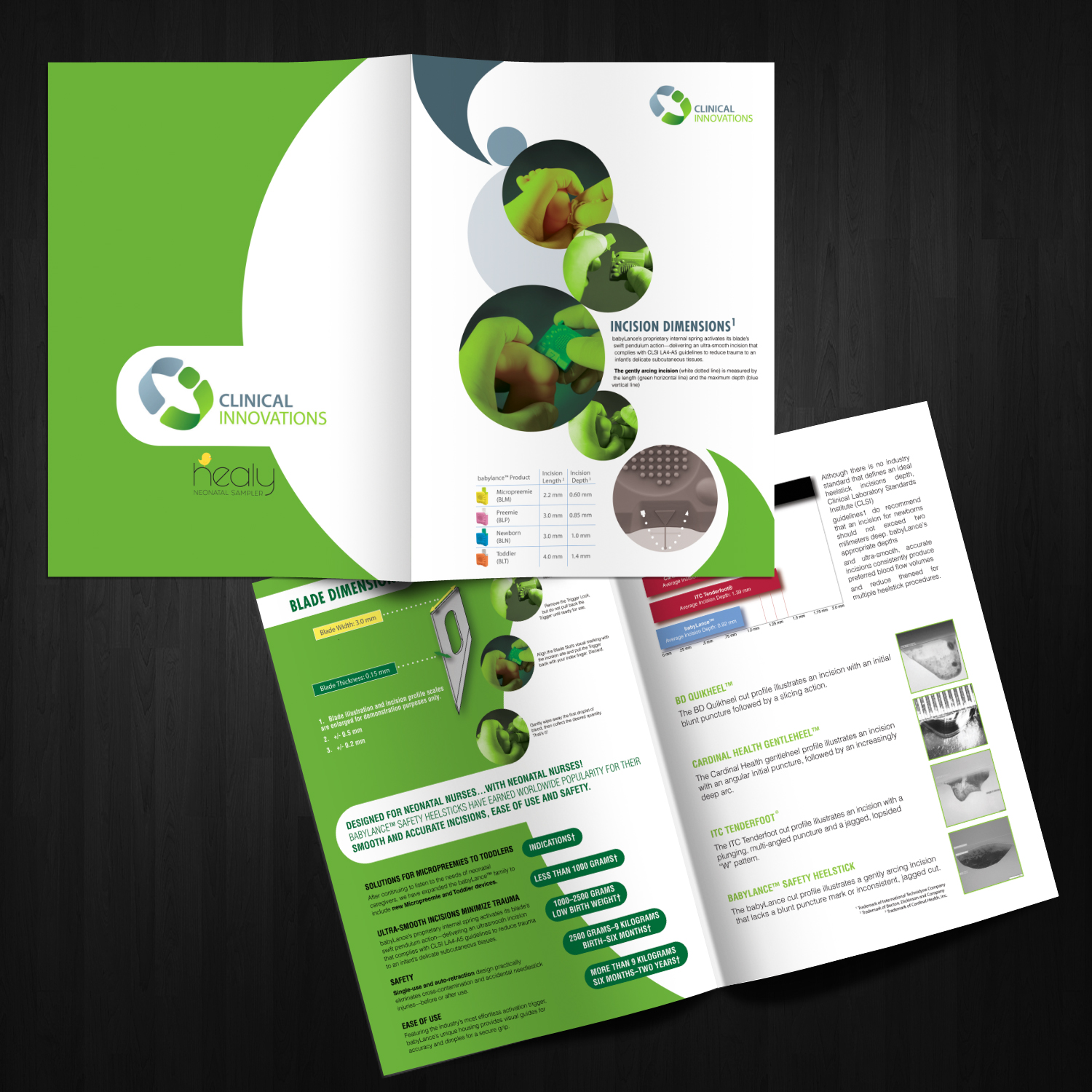 Personable playful medical equipment brochure design for for Medical product design companies