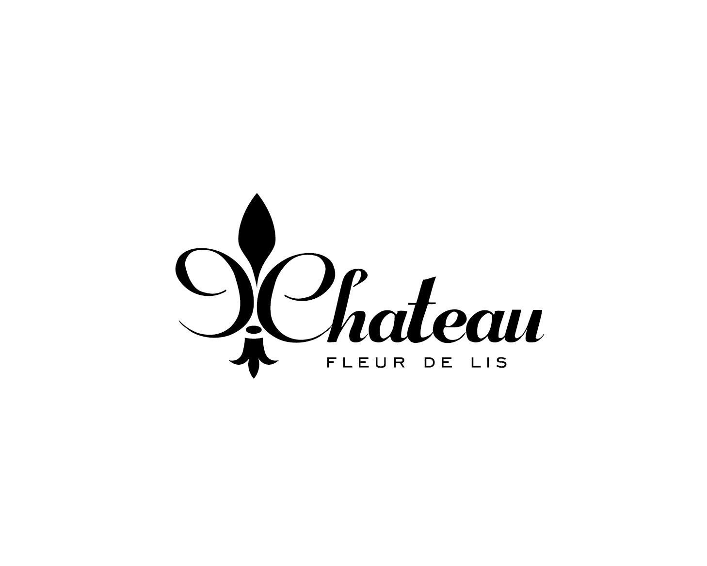 Elegant Traditional Logo Design For Chateau Fleur De Lis By Om