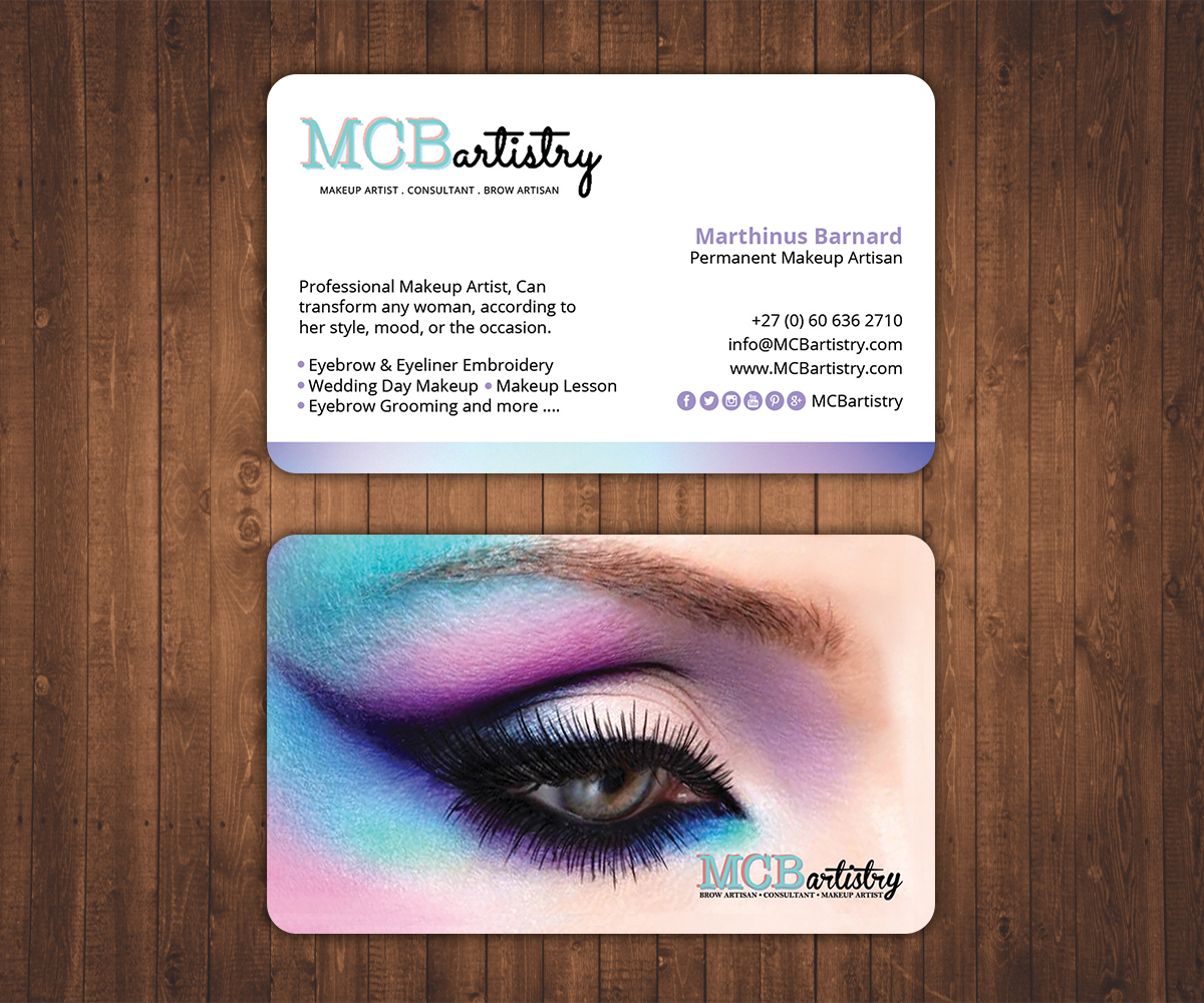 Modern professional industry business card design for mcbartistry business card design by stylez designz for mcbartistry design 12625105 reheart Choice Image