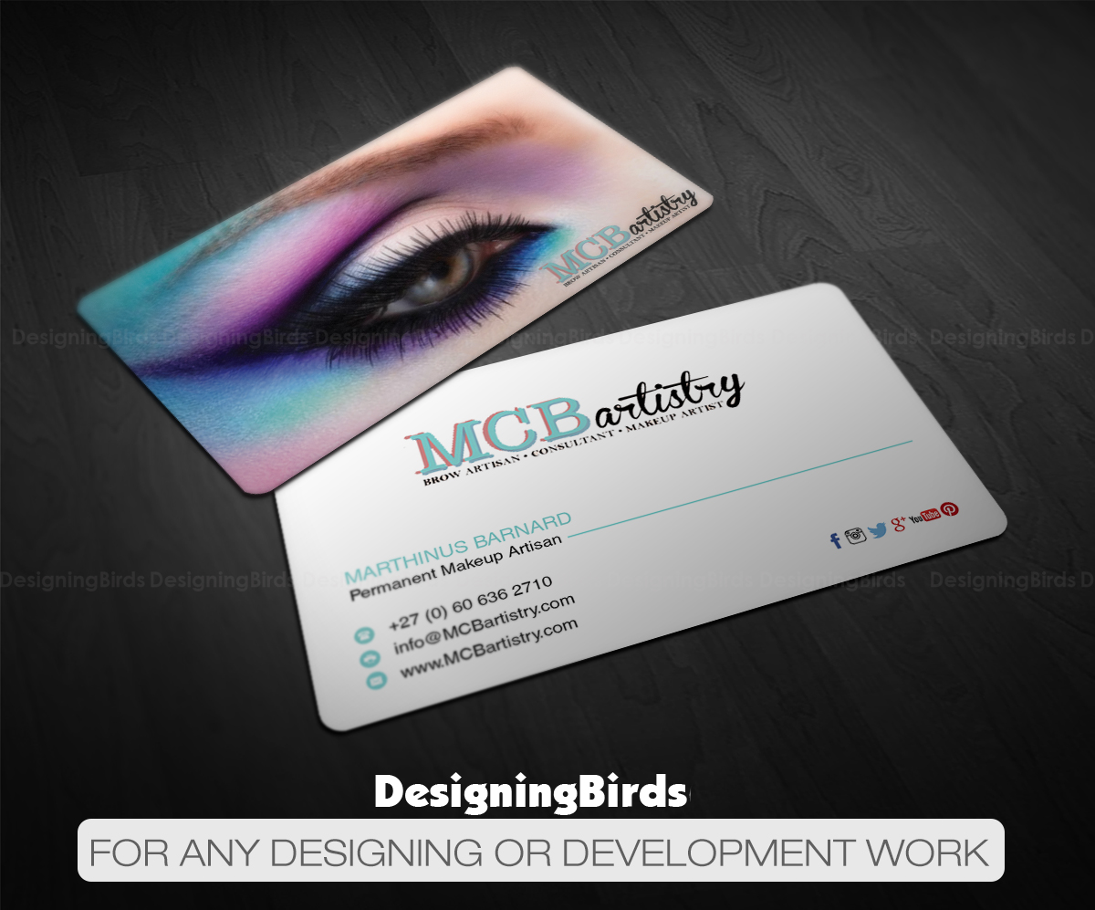 18 modern business card designs industry business card design business card design by designing birds for mcbartistry design 12629017 reheart Image collections