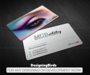 18 modern business card designs industry business card design business card design by designing birds for mcbartistry design 12629017 reheart Images