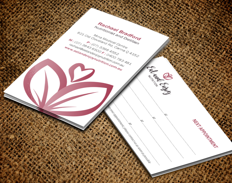 Modern colorful health and wellness business card design for eat business card design by brand aid for eat and enjoy nutrition design 12619281 colourmoves