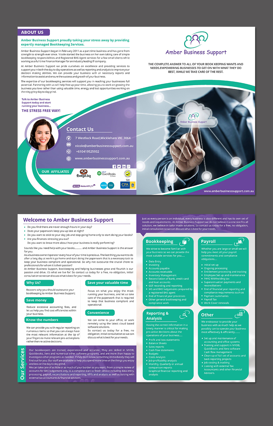 bookkeeping services flyer