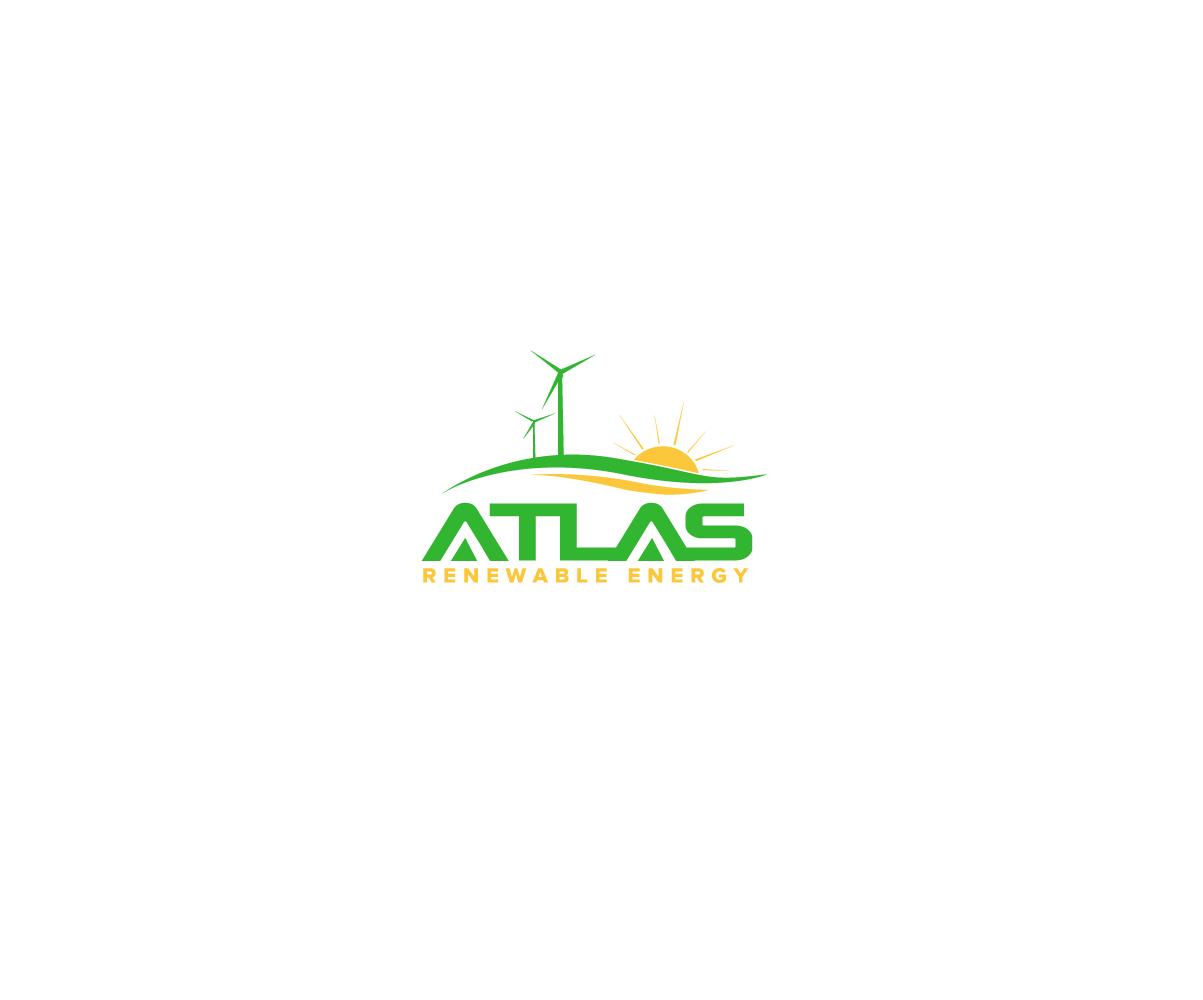 Modern Bold Solar Energy Logo Design For Atlas Renewable Energy By