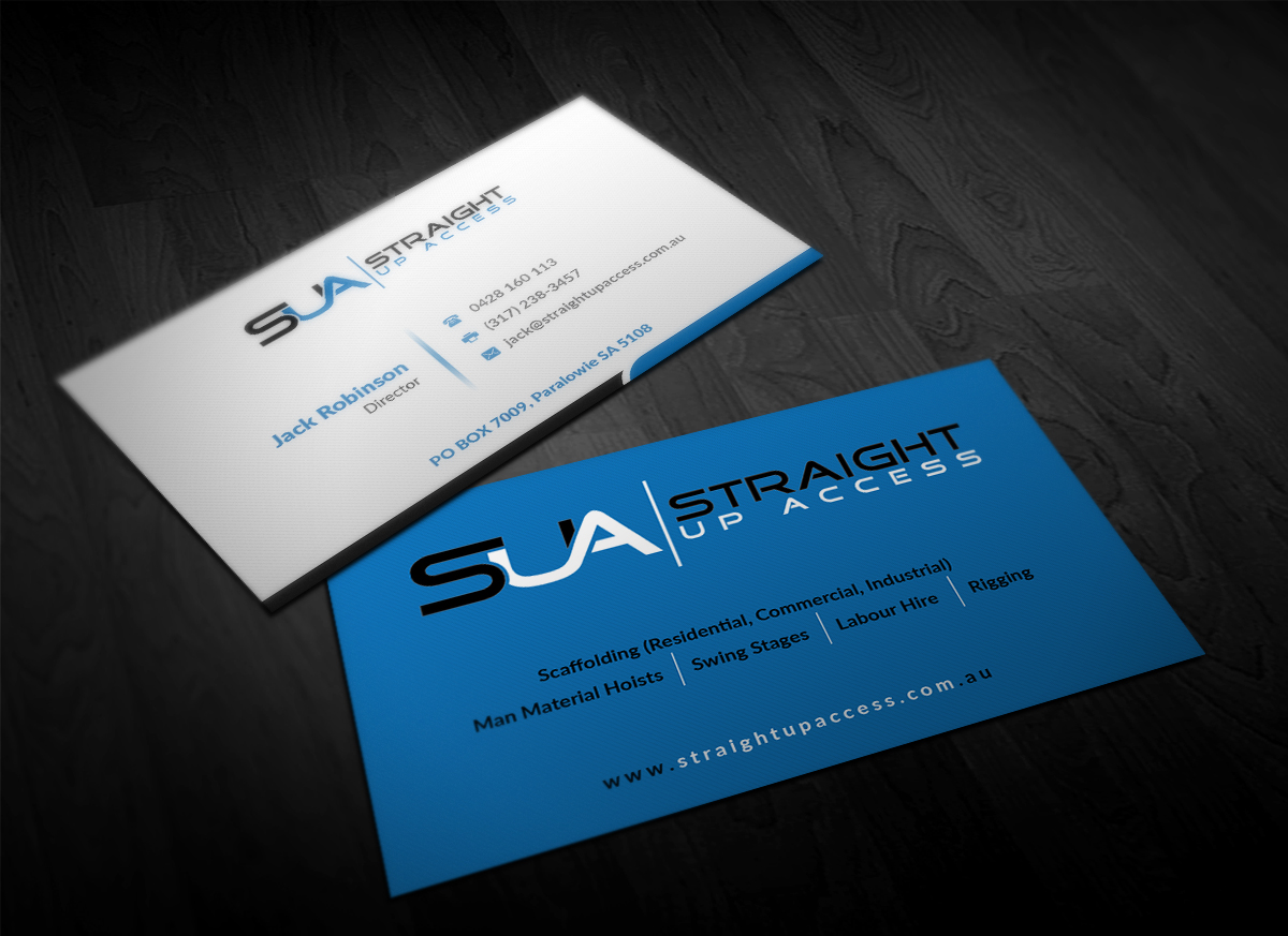 Bold, Serious, Construction Business Card Design for a Company by ...