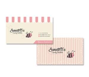 Business Card Design 2465655 Submitted To Sweet B S Candy Buffets Needs