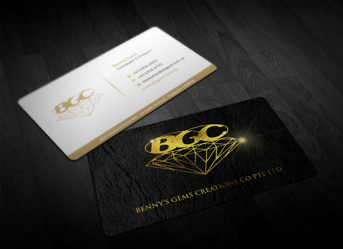 Professional upmarket business card design for isabelle by business card design by pointless pixels india for jewellery shop of 20 over years needs a reheart Images