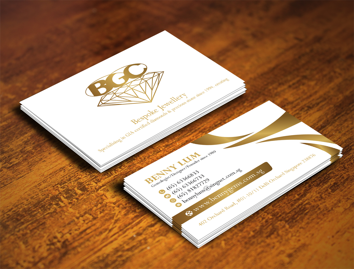 Professional upmarket jewelry store business card design for a business card design by alhemique1 for this project design 12678081 reheart Gallery
