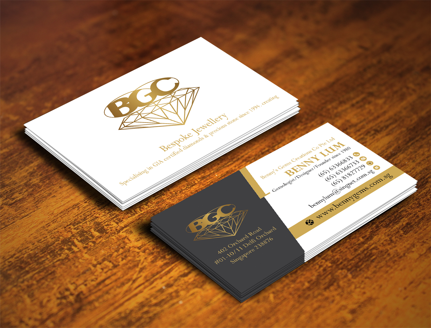 Professional upmarket jewelry store business card design for a business card design by alhemique1 for this project design 12678082 reheart
