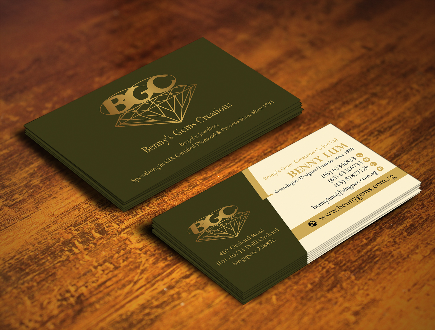 Professional, Upmarket, Jewelry Store Business Card Design for a ...