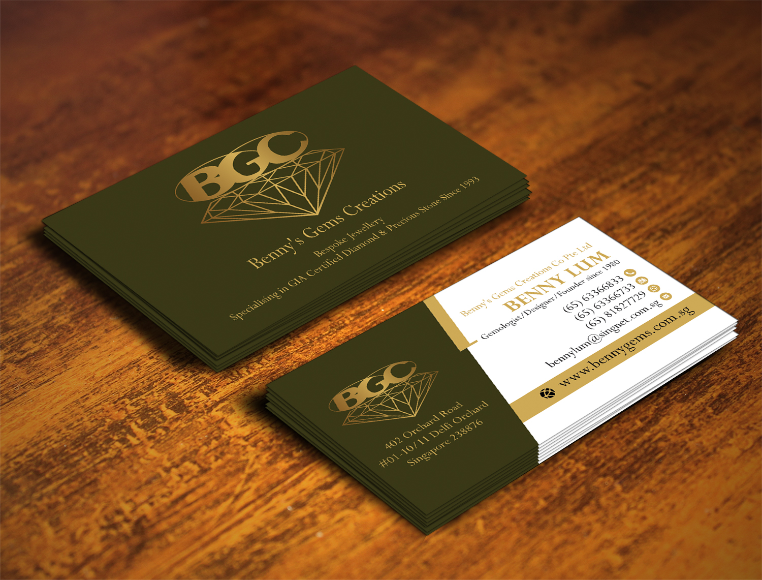 Professional upmarket jewelry store business card design for a business card design by alhemique1 for this project design 12695856 reheart Gallery