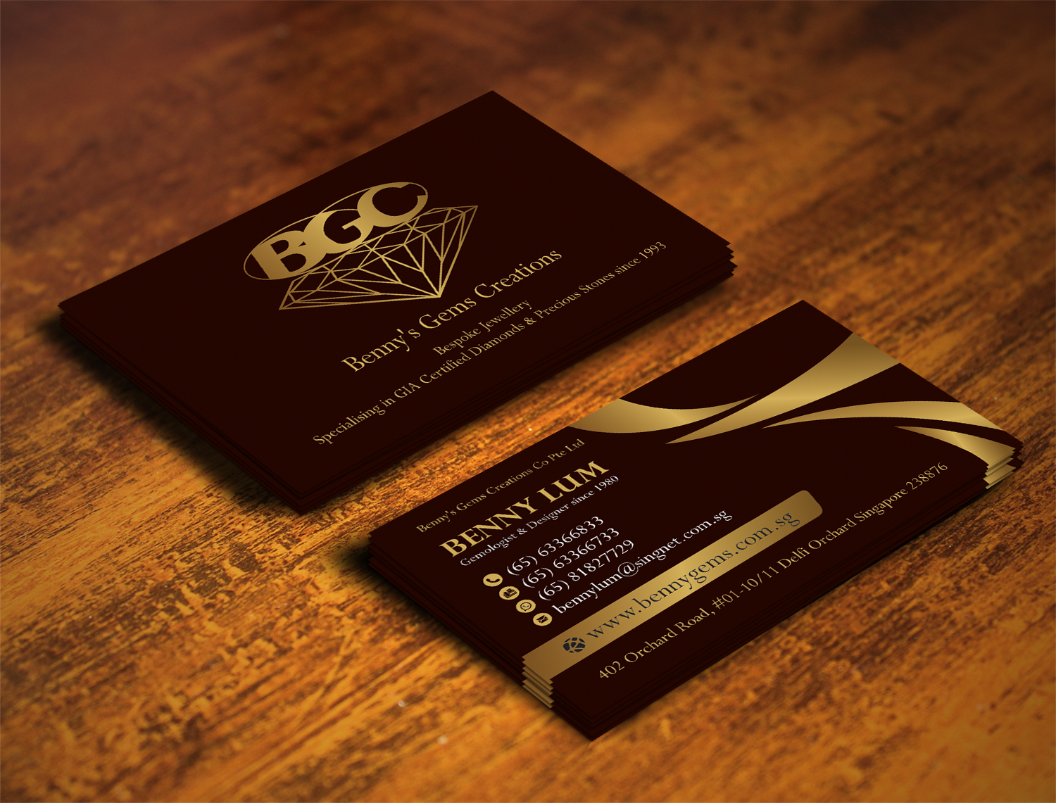 30 professional business card designs jewelry store business card business card design by alhemique1 for this project design 12760516 reheart Gallery
