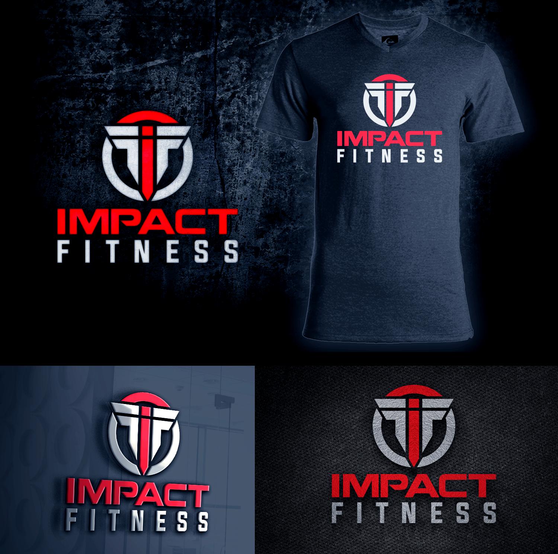 Bold, Modern, Fitness Logo Design for IMPACT FITNESS by Ovais Rizvi