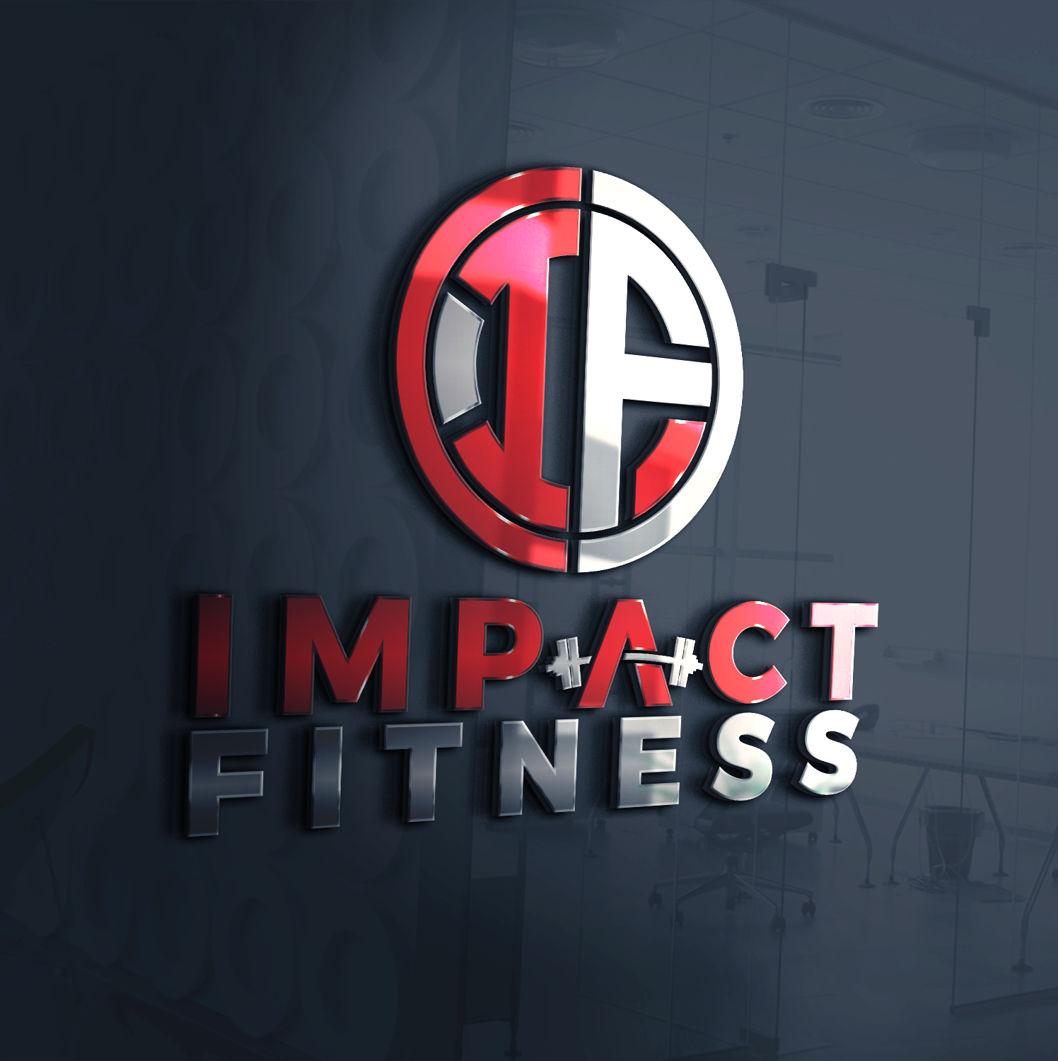 bold  modern  fitness logo design for impact fitness by ovais rizvi
