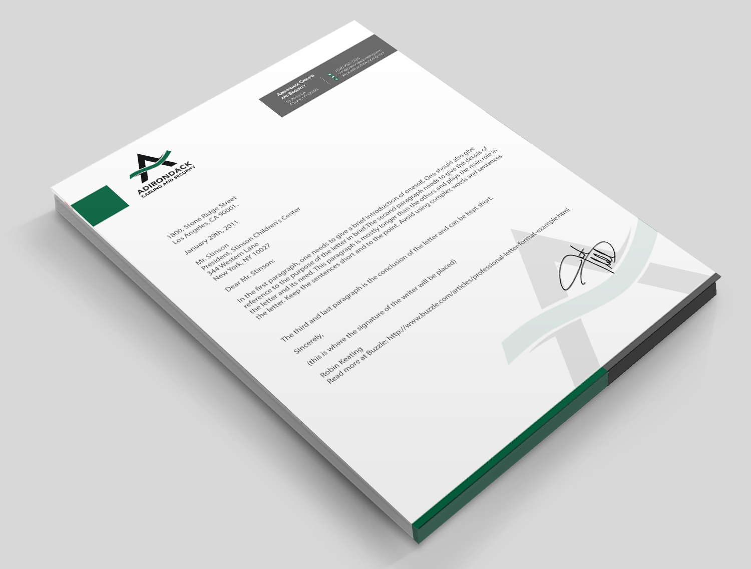 modern professional business stationery design for a company by
