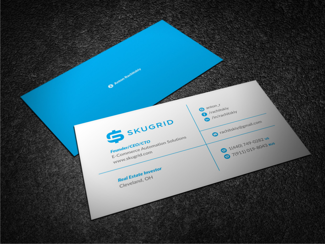 Elegant playful business card design for discount cabin business card design by atvento graphics for it ceo and real estate investor design colourmoves