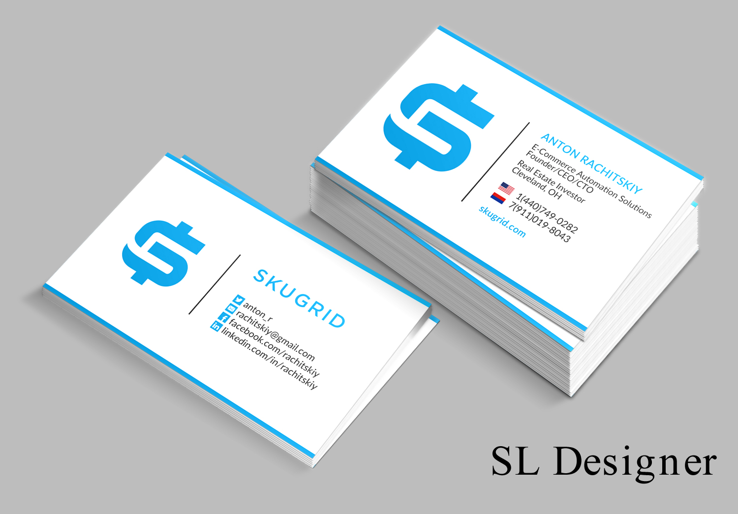 Elegant Playful Real Estate Business Card Design For
