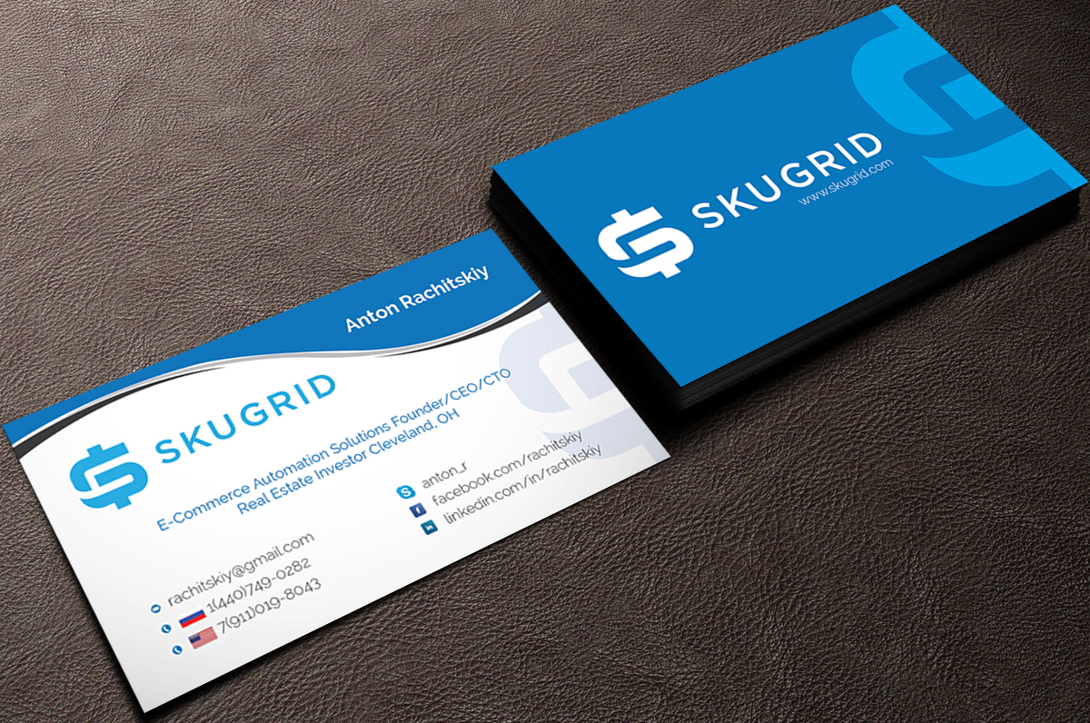 elegant playful real estate business card design for discount