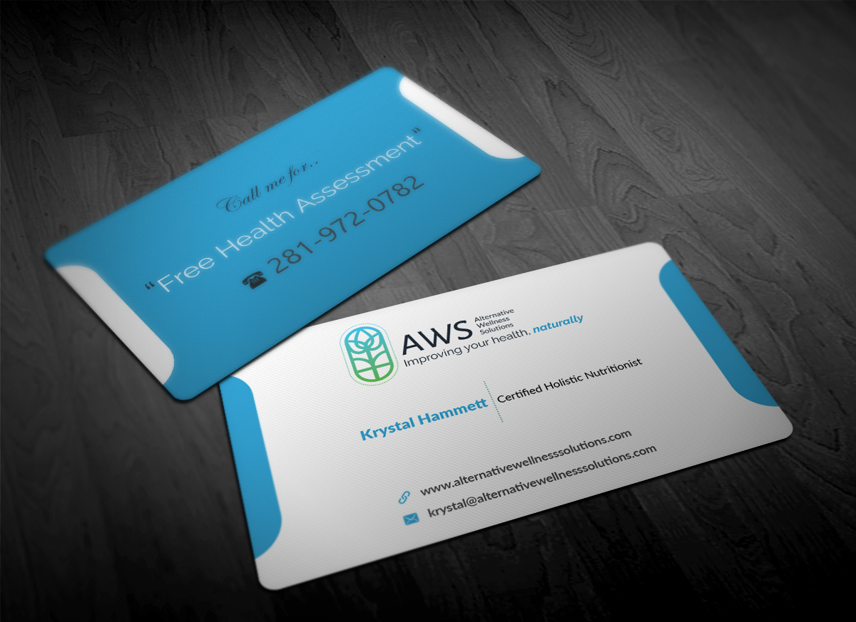 Modern upmarket business business card design for alternative business card design by pointless pixels india for alternative wellness solutions design 12681688 reheart Choice Image