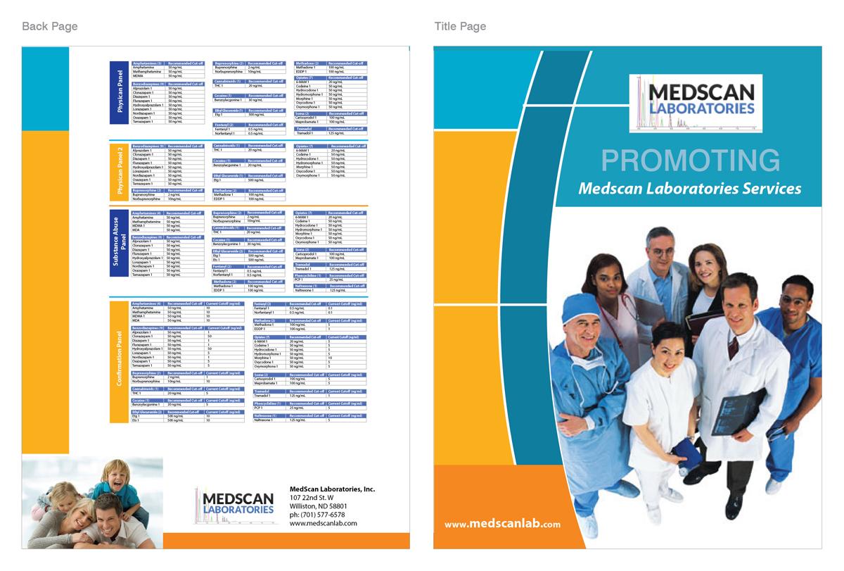 elegant playful healthcare brochure design for alliance medical