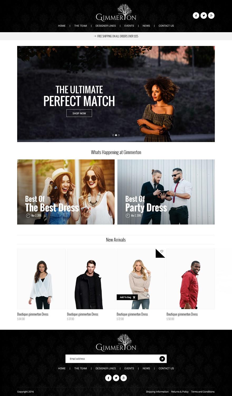 Elegant Playful Fashion Web Design For A Company By Syrwebdevelopment Design 12763630