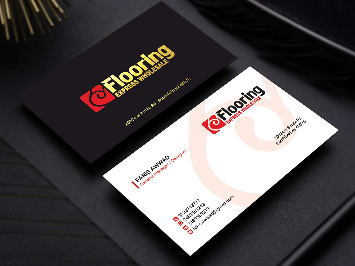 business card design by sandaruwan for this project design 12761040 - Flooring Business Cards