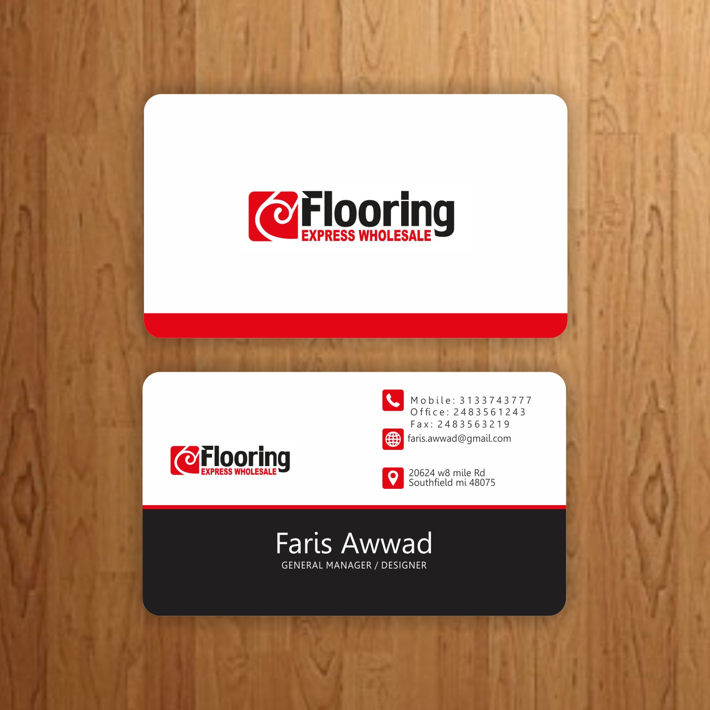 Professional serious flooring business card design for a company business card design by peacockdesigns for this project design 12796139 reheart Image collections