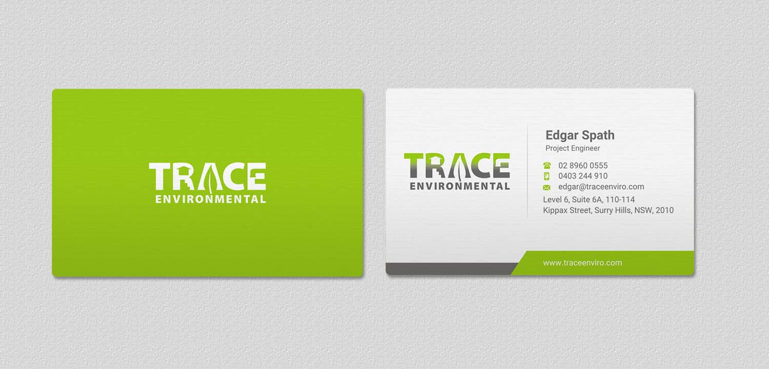 Modern, Professional, Business Business Card Design for TRACE ...