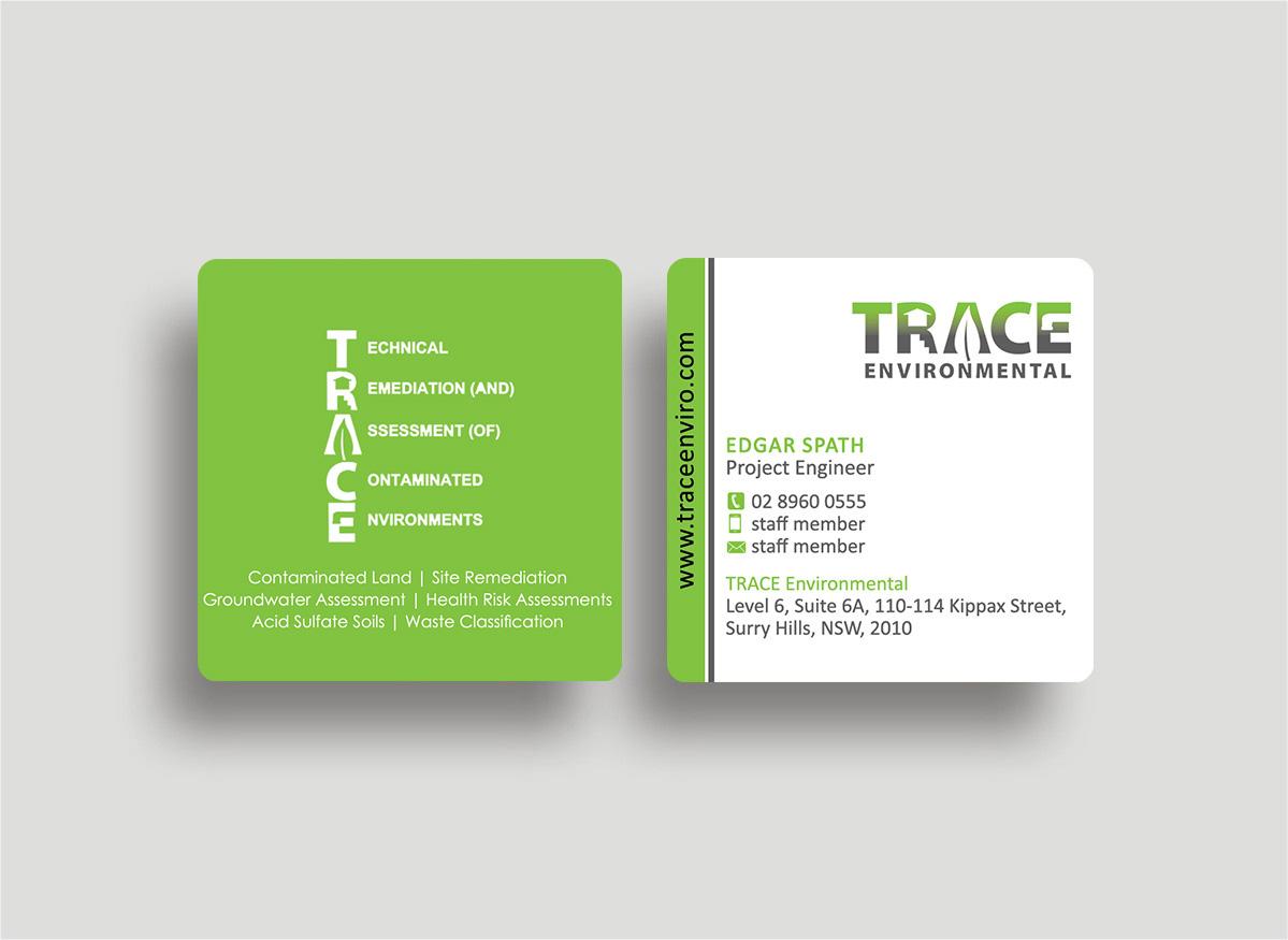 Modern professional business business card design for trace business card design by designs 2016 for trace environmental design 12758320 colourmoves