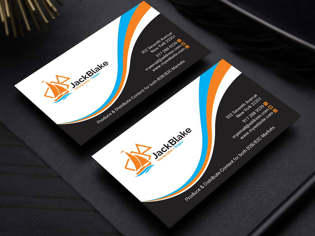 Modern professional videography business card design for the business card design by sandaruwan for the skipper lifestyle design 12762518 colourmoves