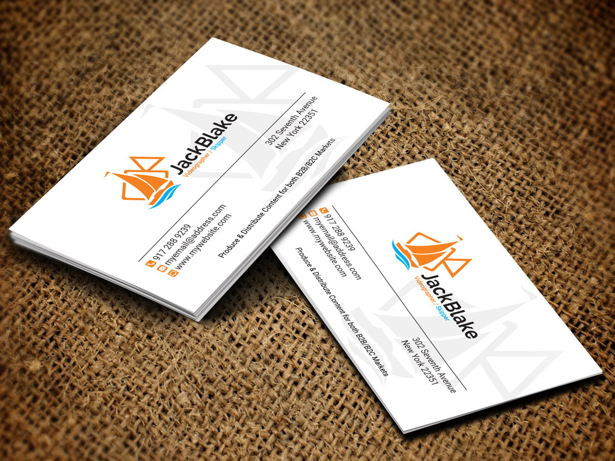 Modern professional videography business card design for the business card design by sandaruwan for the skipper lifestyle design 12762693 colourmoves