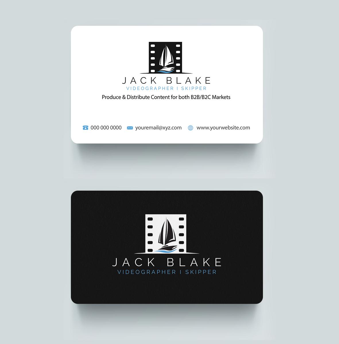 Modern professional videography business card design for the business card design by riz for the skipper lifestyle design 12717342 colourmoves