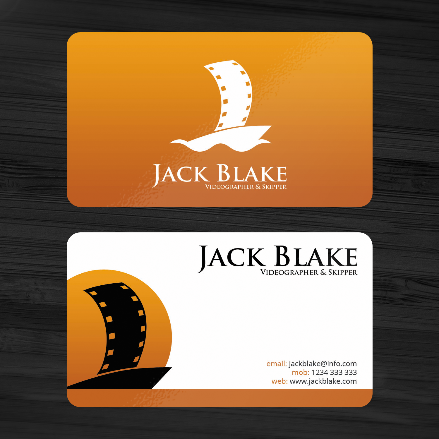 Modern professional videography business card design for the business card design by sanrell for the skipper lifestyle design 12764946 colourmoves