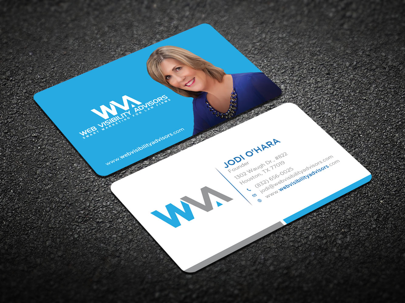 Upmarket, Serious Business Card Design for Web Visibility Advisors ...