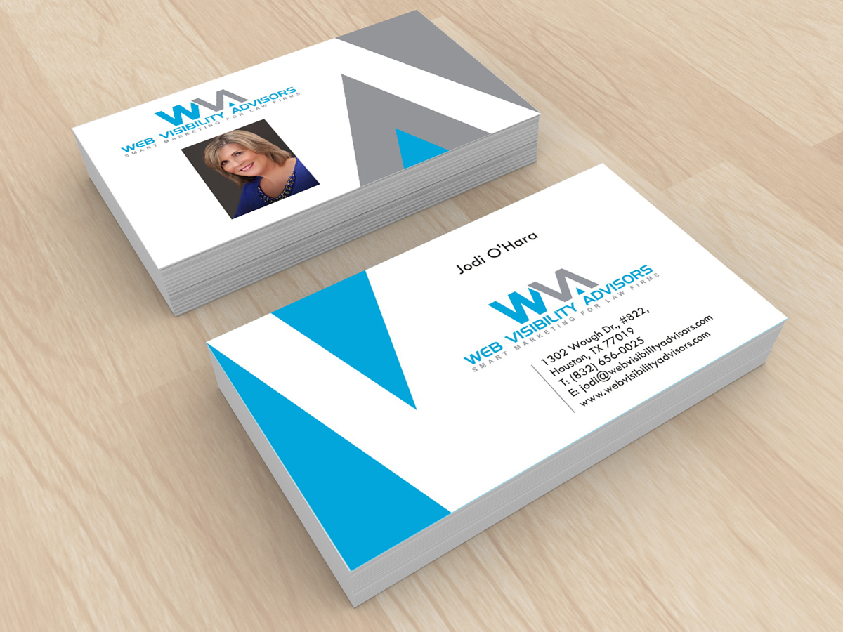 Business Card Design By Art N Ideas For Web Visibility Advisors