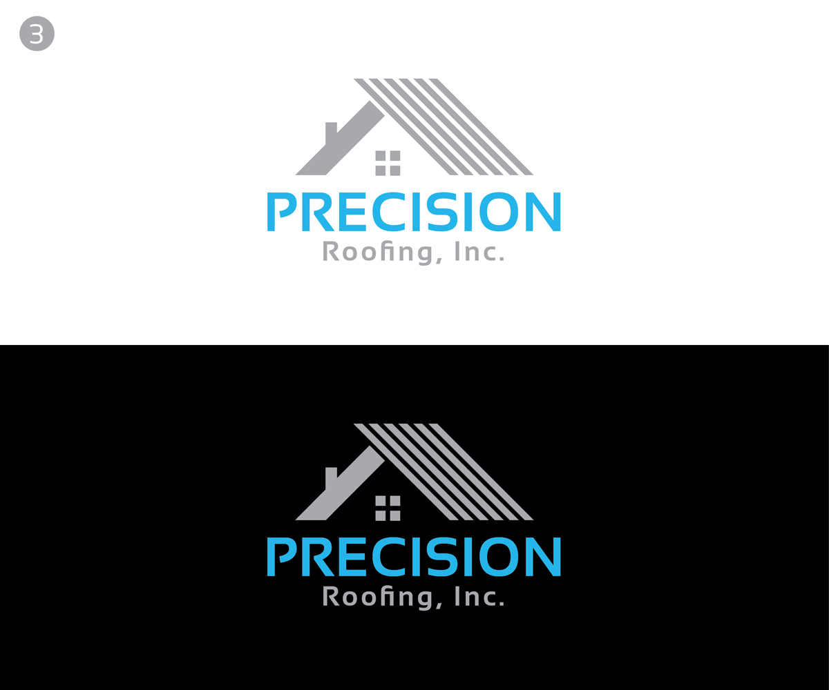 Modern Professional Roofing Logo Design For Precision Roofing Inc By Kabhtech Studio Design 12789803
