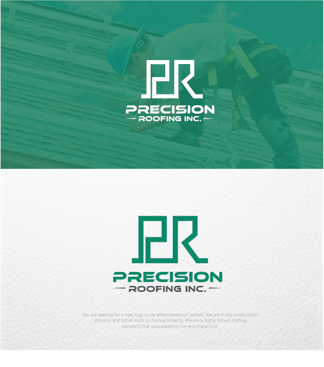 Modern Professional Roofing Logo Design For Precision Roofing Inc By 8colors Design 12748030
